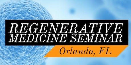 FREE Regenerative Medicine & Stem Cell For Pain Dinner Seminar - Heathrow / Lake Mary, FL tickets