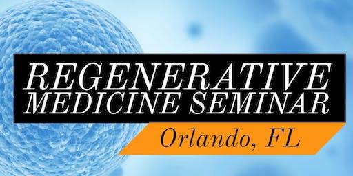 FREE Regenerative Medicine & Stem Cell For Pain Dinner Seminar - Heathrow / Lake Mary, FL
