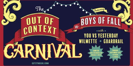 Boys of Fall • You vs Yesterday • Wilmette • Guardrail tickets