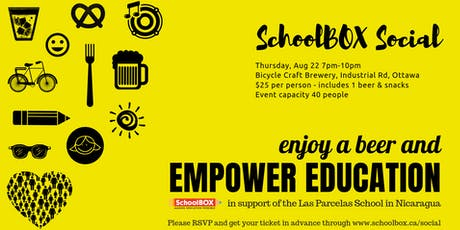 SchoolBOX Social at Bicycle Craft Brewery tickets