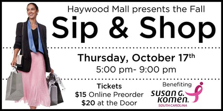 Haywood Mall Fall Sip & Shop 2019 tickets
