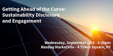 Getting Ahead of the Curve:  Sustainability Disclosure and Engagement tickets