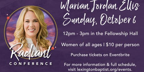 Women's Radiant Conference with Marian Jordan Ellis tickets