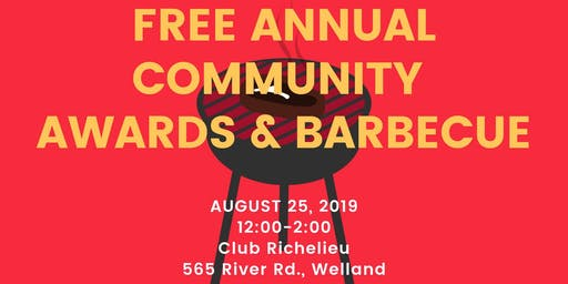 Free Annual Community Awards & Barbecue