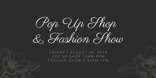 Pop Up Shop & Fashion Show