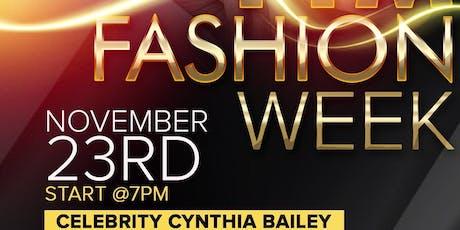 FTM Fashion Week Season 7 - Celebrity Guest - Cynthia Bailey tickets