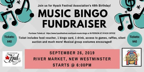 Hyack Music Bingo Fundraiser tickets
