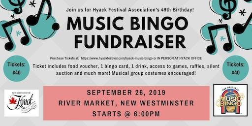 Hyack Music Bingo Fundraiser