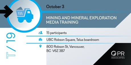 Media Training for Mining Professionals in Vancouver tickets