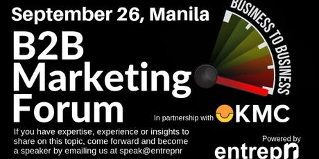 B2B Marketing Forum (Manila) tickets