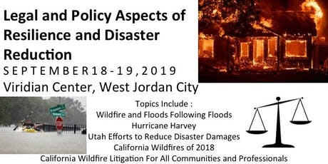 Legal and Policy Aspects of Resilience and Disaster Reduction tickets