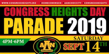 38th Annual Congress Heights Day Parade/Call tickets