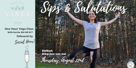 Sips & Salutations - August 22 W/Kavita  tickets