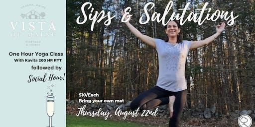 Sips & Salutations - August 22 W/Kavita