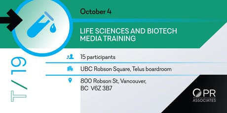 Media Training for Life Science and Biotech Professionals in Vancouver tickets