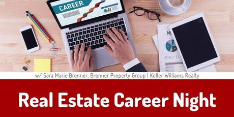 Real Estate Career Night: Considering Real Estate & Licensed Agents -- All tickets