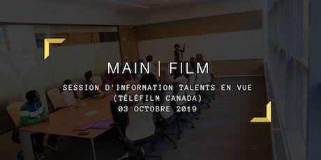 Session d'information Talents en vue billets