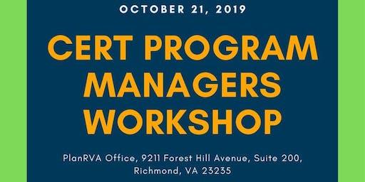 2019 CERT Program Managers Workshop
