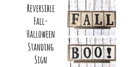 Ladies Night-Reversible Fall/Halloween Standing Sign