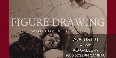 Figure drawing with Coven of Roses