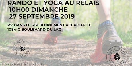Rando au Relais et yoga au sommet billets