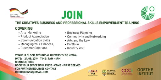 The Creatives Business and Professional Skills Empowerment Training
