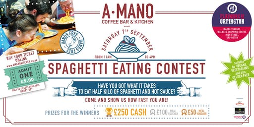 SPAGHETTI EATING CONTEST Flavours of Orpington