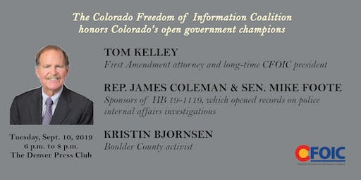 Honoring Colorado's open government champions