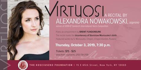 Virtuosi - a recital by Alexandra Nowakowski, soprano  tickets