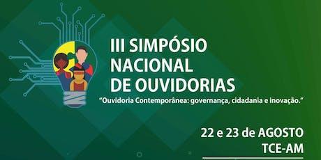 3° SIMPÓSIO NACIONAL DE OUVIDORIAS ingressos