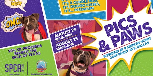 Pics & Paws – Bring Your Pup to Rainbow Vomit