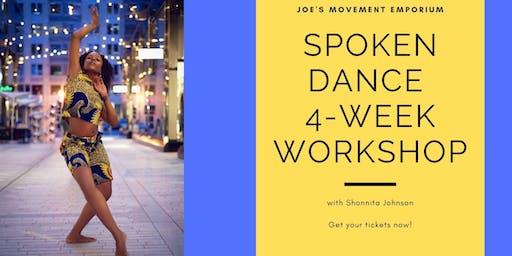 Spoken Dance 4-Week Workshop