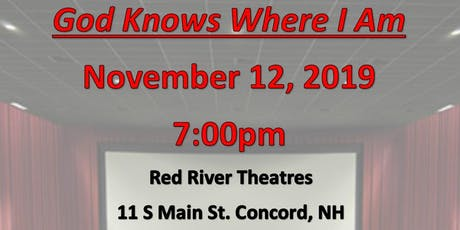 "Fellowship Housing Opportunities presents ""God Knows Where I Am"" tickets"