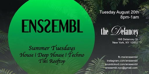 ENSSEMBL - Summer Serie: House/Deep House/Techno and Tiki Rooftop