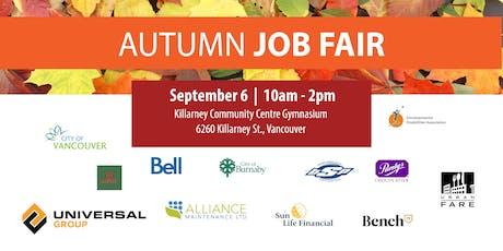 Autumn Job Fair tickets