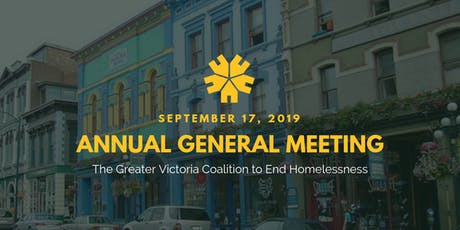 Annual General Meeting 2019: Greater Victoria Coalition to End Homelessness tickets