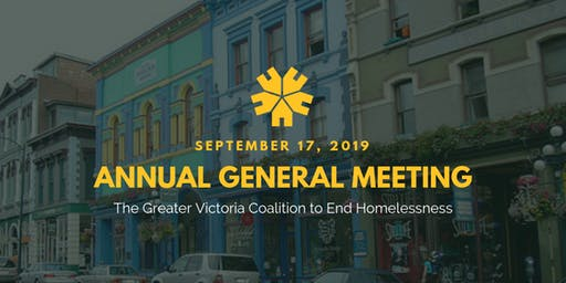 Annual General Meeting 2019: Greater Victoria Coalition to End Homelessness