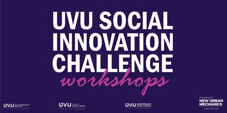UVU Social Innovation Challenge Workshops tickets