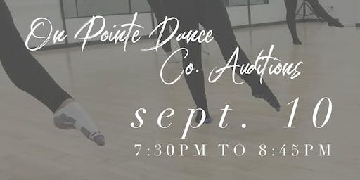 On Pointe Dance Co. Audtions