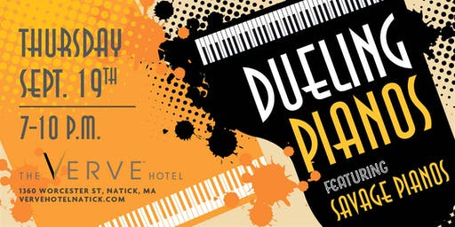 Dueling Pianos by Savage Pianos, The VERVE Hotel, Natick, MA