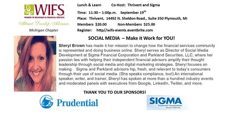 SOCIAL MEDIA - MAKE  IT  WORK FOR  YOU! tickets