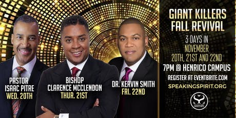 Giant Killers Fall Revival at Speaking Spirit Ministries tickets