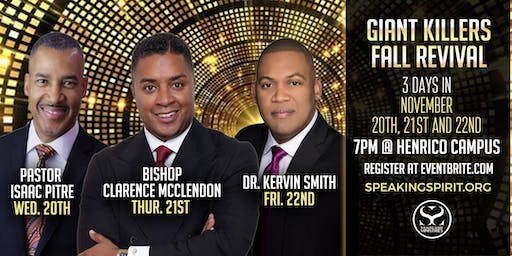 Giant Killers Fall Revival at Speaking Spirit Ministries