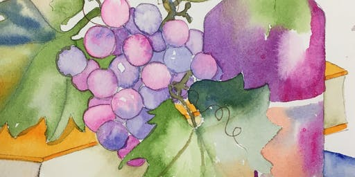 Splash Watercolor Class - Good Wine and a Book