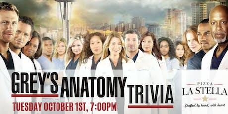 Grey's Anatomy Trivia at Pizza La Stella Cary tickets