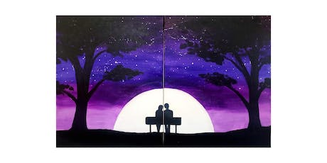 """BYOB Sip & Paint Event - """"Couple or BFF painting""""  tickets"""