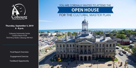Open House for the Cultural Master Plan tickets