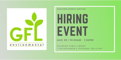 AUG 29 | NEW & GFL Environmental Hiring Event tickets