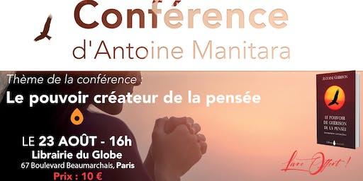 Conférence d'Antoine Manitara - Le pouvoir créateur de la pensée