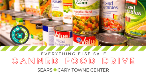 Canned Food Drive Early Entry to the Kids EveryWEAR Consignment Sale